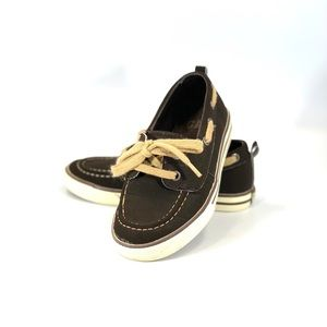 Boy's Gap Brown Boat Shoes